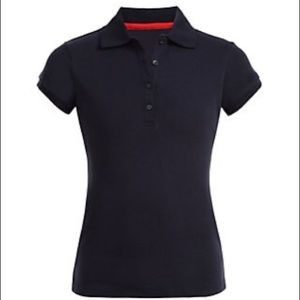 Nautica girls school uniform navy polo